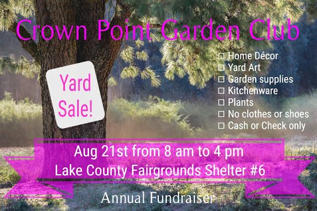Crown Point Garden Club Yard Sale Fundraiser