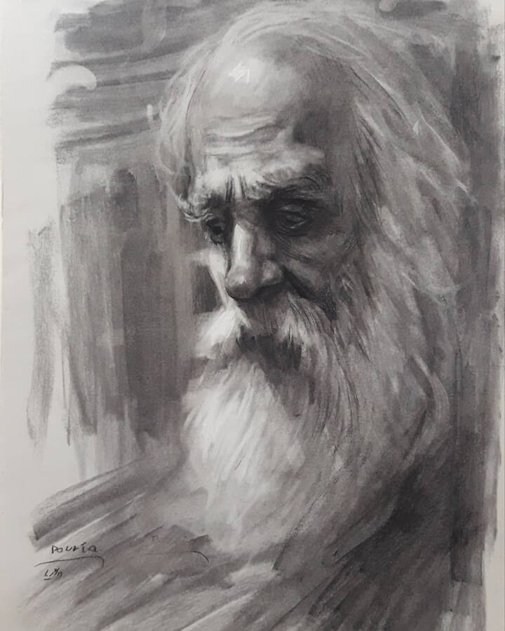 07-Portrait Drawings Pourianahaei-www-designstack-co