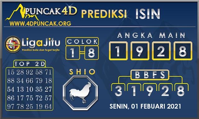 PREDIKSI TOGEL ISIN PUNCAK4D 01 FEBUARI 2021