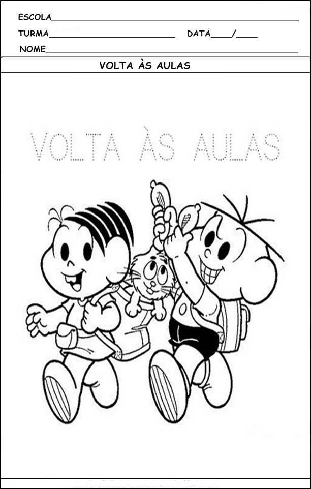 Atividades Infantis Para Volta As Aulas Alfabetizacao Desenhos