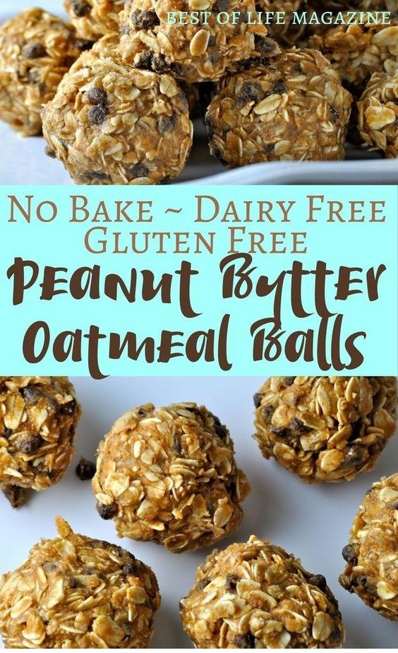 Gluten Free Dairy Free Peanut Butter Oatmeal Balls