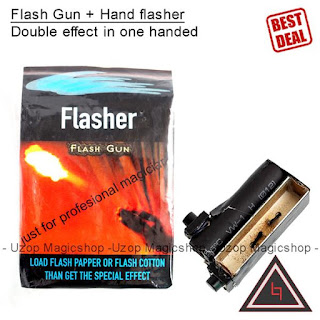 Jual alat sulap flash gun double hand flasher