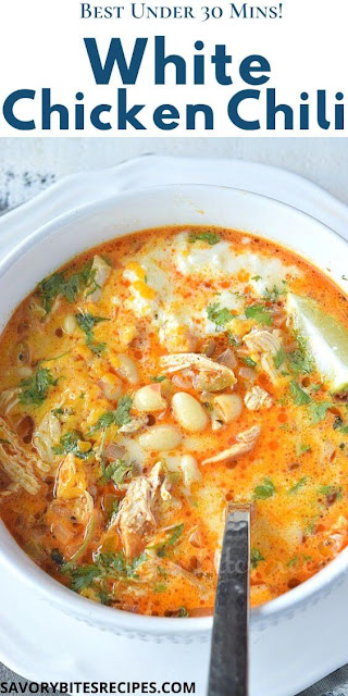 under 30 mins white bean chicken chili