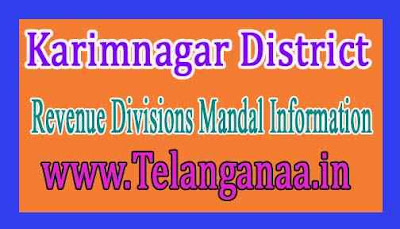 Karimnagar District Revenue Divisions Mandal Information