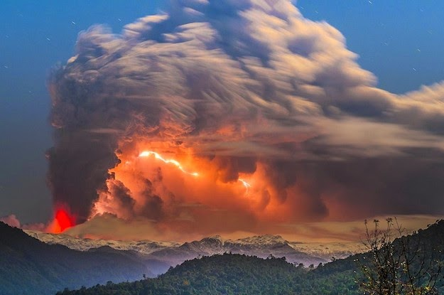 volcanic eruption in Chile