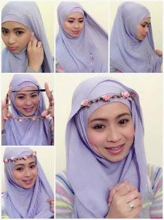 Kreasi Jilbab Segi Empat Headband