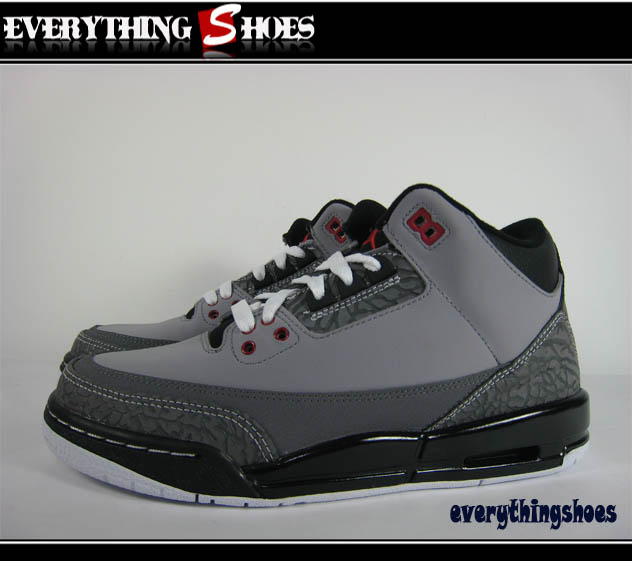 new arrival f27ae 2fe1f Air Jordan III (3) Retro GS - Stealth Varsity Red - Light Graphite - Black