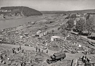 Daños causados por la inundación tras la catástrofe del Möhne - 1943