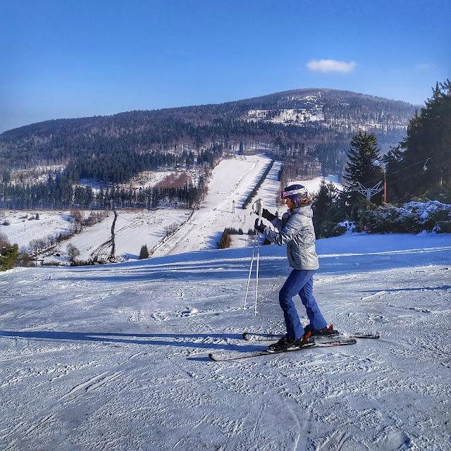 nauka jazdy na nartach Góry Sowie, Rzeczka, narty,