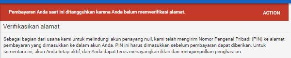 Cara Verifikasi PIN Adsense Lewat KTP