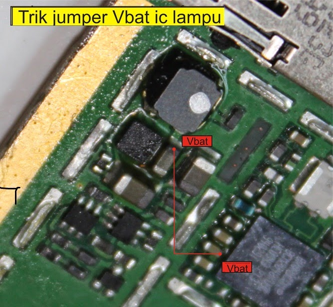 Picture of how jumpers die lights on Nokia 2700c