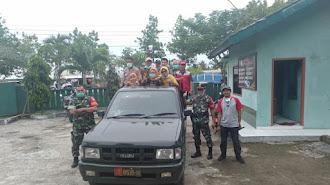 "Bareng Muspika, Puskesmas Batujaya ""Woro-Woro"" Pencegahan Covid-19 Keliling Kampung"