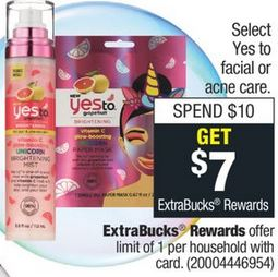CVS Deals on Yes To Facial Care 10/27-11/2