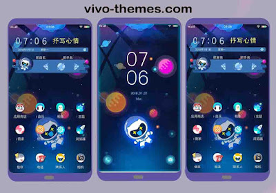 Outer Space Theme For Vivo Android Smartphones