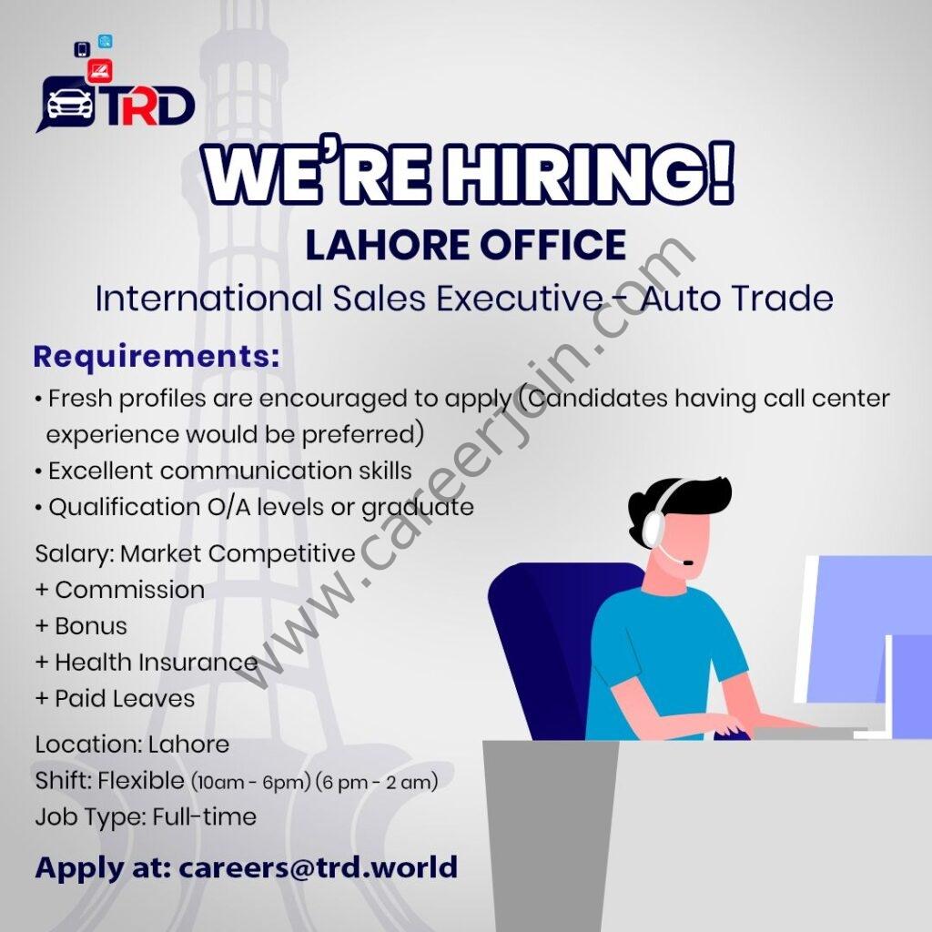 careers@trd.world - TRD Pvt Ltd Jobs 2021 in Pakistan