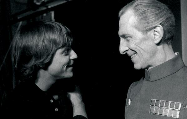 Mark Hamill and Peter Cushing