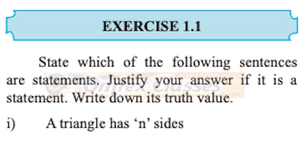 Chapter 1: Mathematical Logic  Exercise 1.1