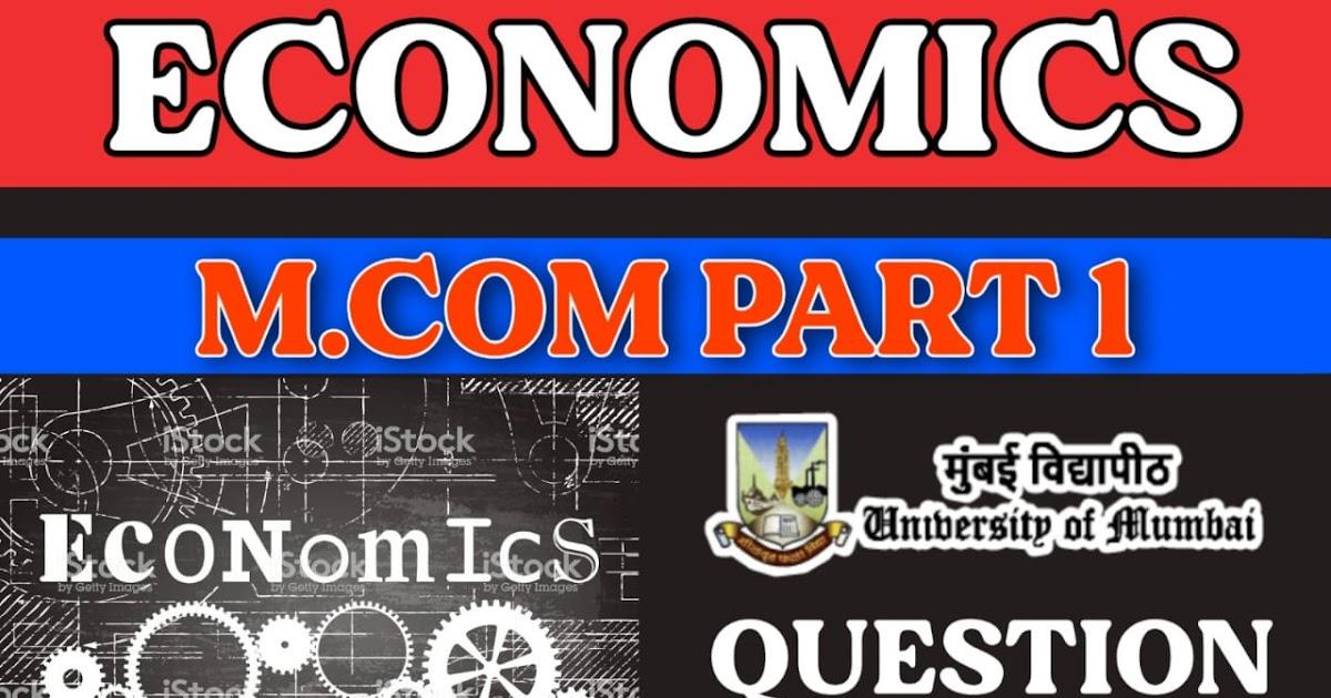Economics Of Global Trade And Finance M Com Part 1