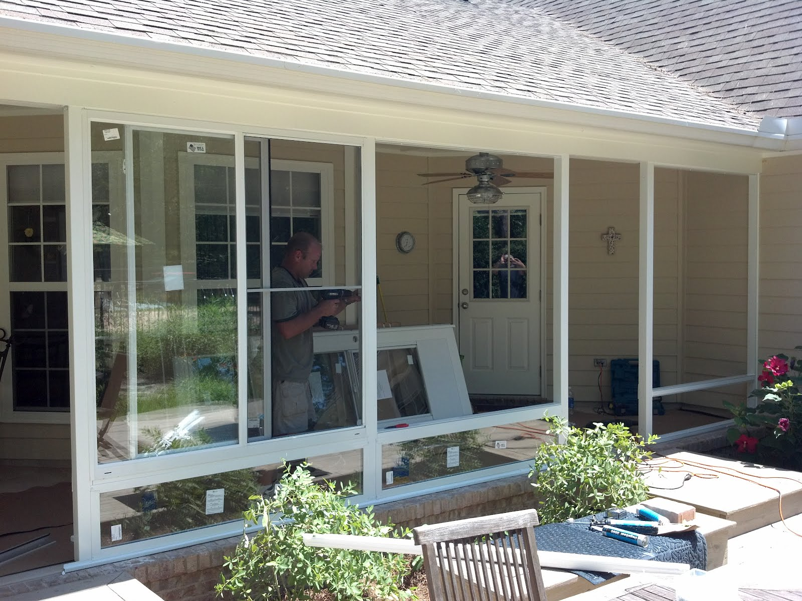 Screen Rooms Tallahassee: Glass Patio Enclosure Project. on Patio Enclosure Ideas  id=48639