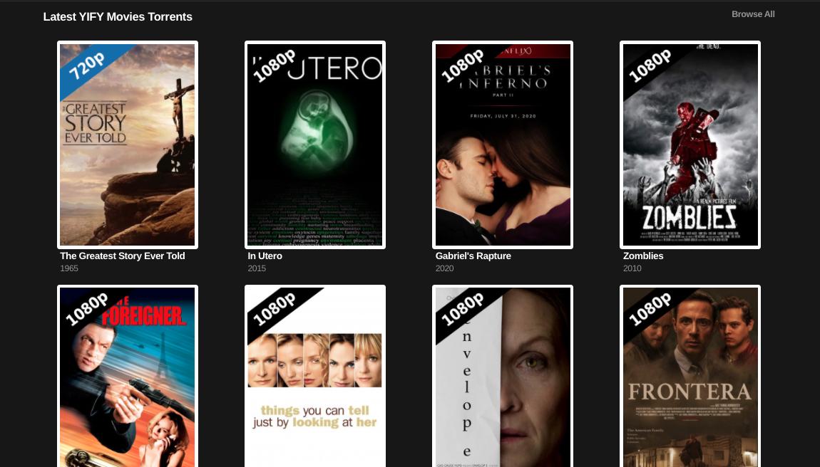 Yify movies proxy sites