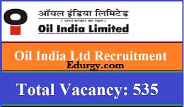 Oil India Recruitment 2021 for 535 Vacancies