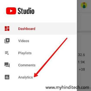 Yt studio से analytics कैसे देखे
