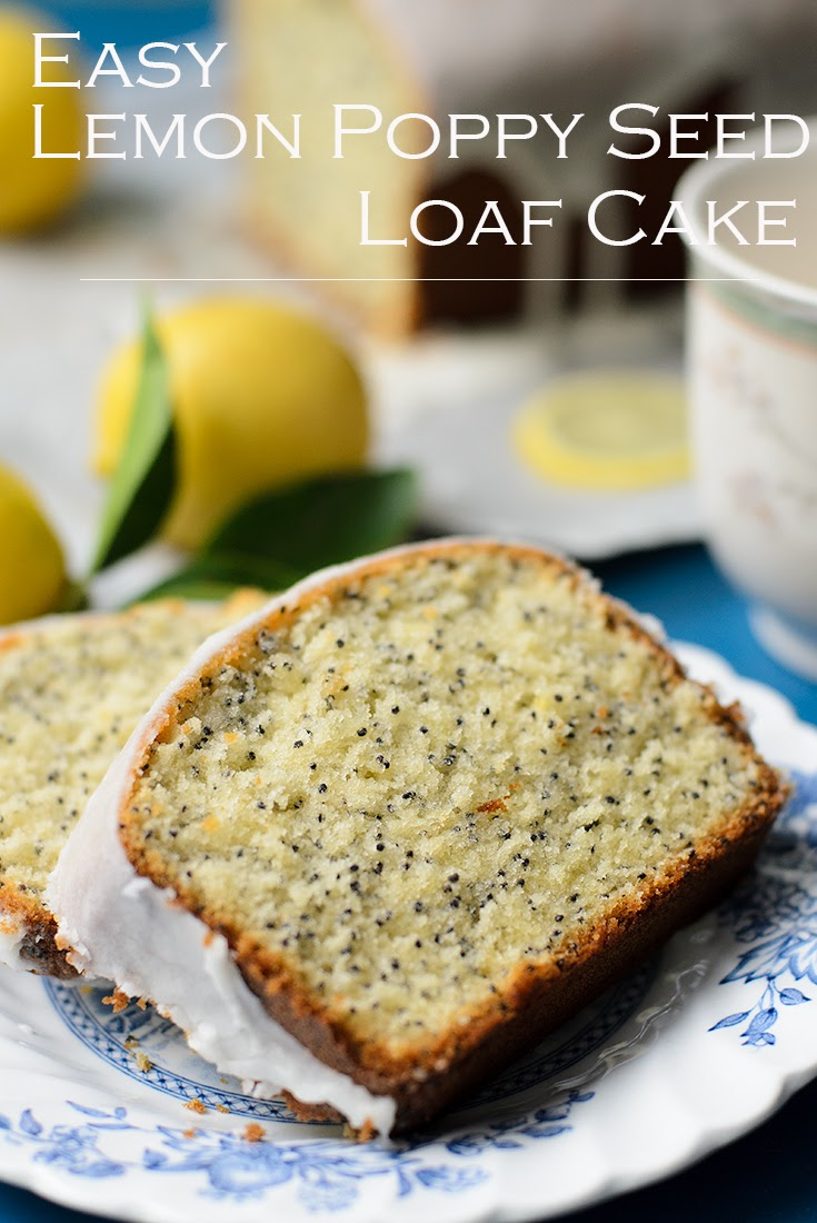 Easy zesty lemon and poppy seed cake
