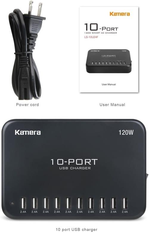Kamera USB Charger 10-Port Charging Hub