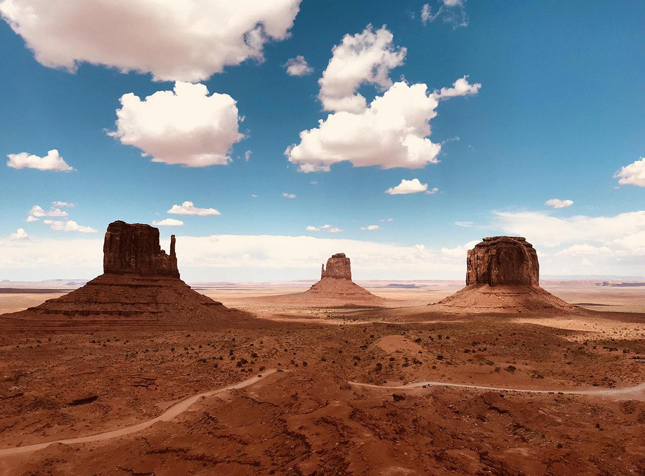 Долина Монументов в штате Юта, США