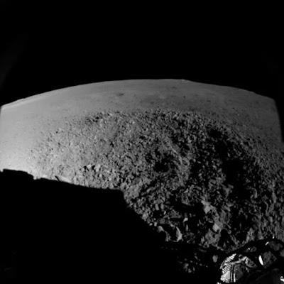 imagen terreno con extraño gel en lado oculto de la luna