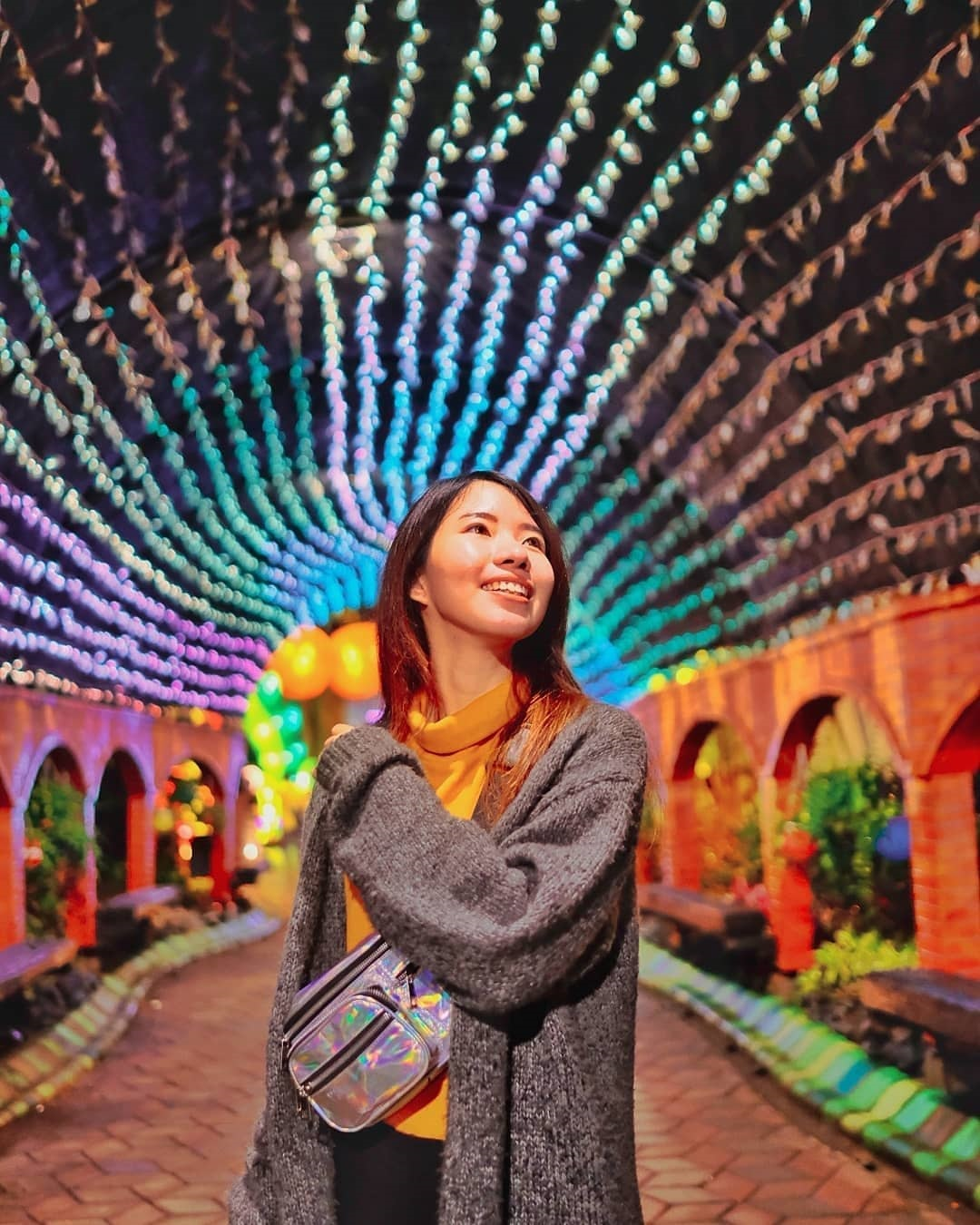 Lighting Tunnel Malang Night Paradise