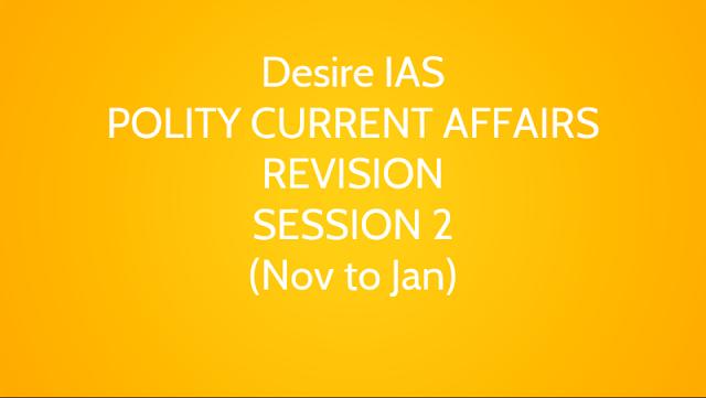 Polity Current Affairs Revision for UPSC CSE Prelims 2018 Pdf Download