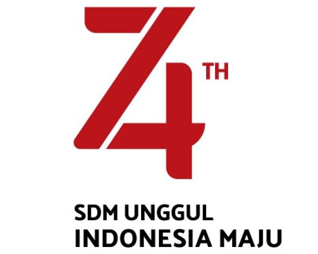 Logo Resmi HUT ke-74 Kemerdekaan RI Tahun 2019
