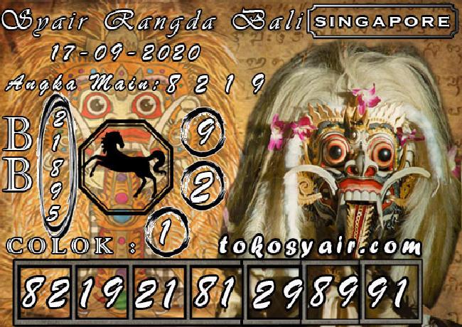 Kode syair Singapore Kamis 17 September 2020 170