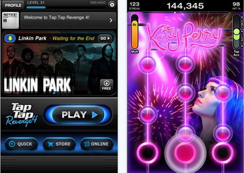 Tap Tap Revenge 4 released for iPhone, iPad