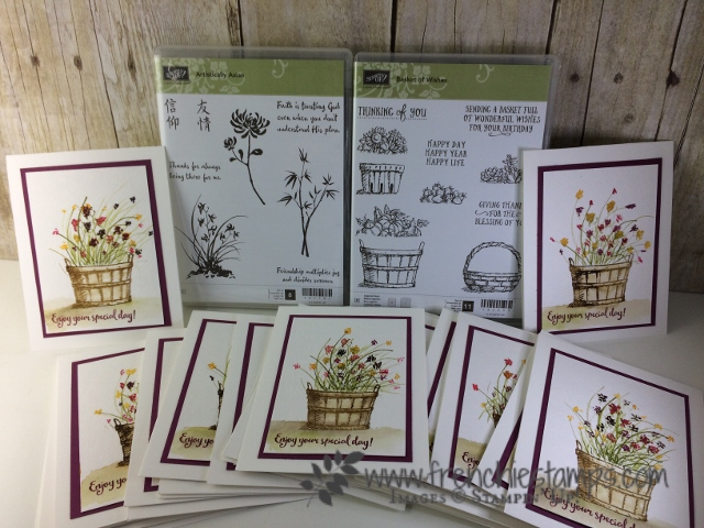 Stampin'Up! Basket of wishes, Artistically Asian, Wild Watercolor