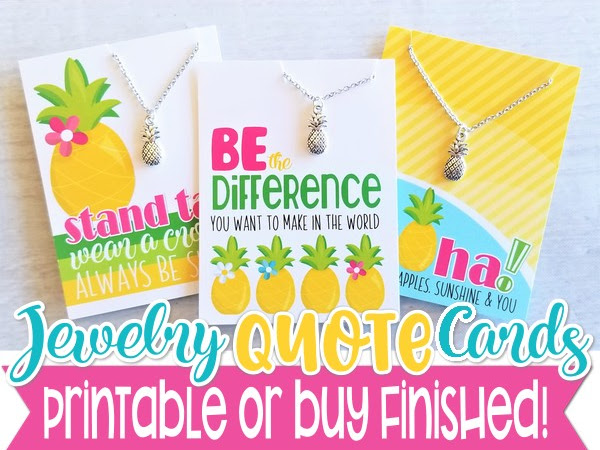 *NEW* Necklace Quote Cards + GIVEAWAY!