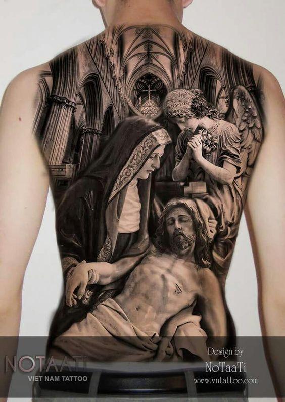 Tatuaje de la piedad