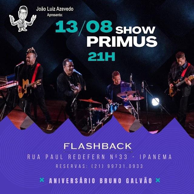 Dia 13 de agosto tem show da Banda PRIMUS no FlashBack de Ipanema