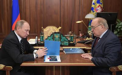Vladimir Putin and Viktor Sadovnichy.