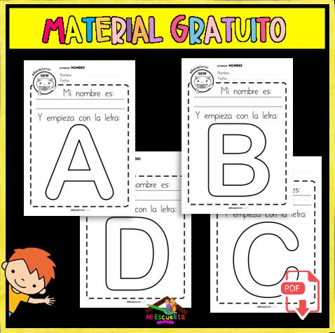 Actividades para aprender a escribir el nombre propio en preescolar