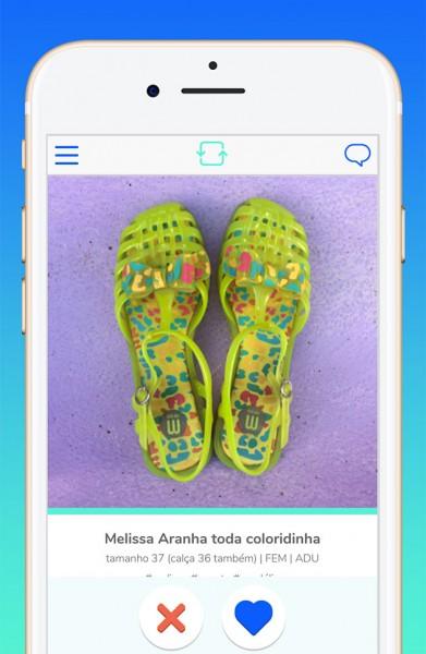 08a671354d O aplicativo ROUPA LIVRE APP cadastra suas roupas de acordo com tamanho