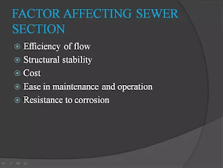 factor affecting sewer section