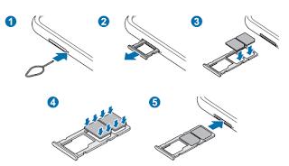Installing the SIM or USIM card