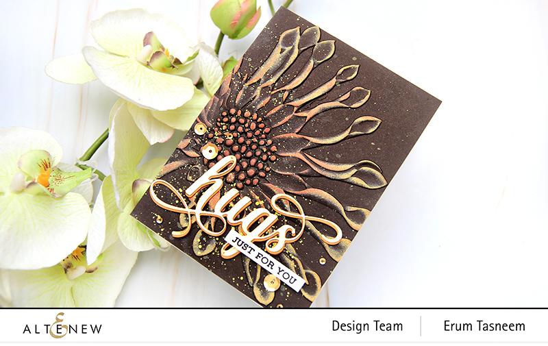 Altenew Spoon Daisy 3D Embossing Folder | Erum Tasneem |@pr0digy0
