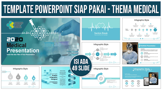 Contoh Template PowerPoint tema Medical