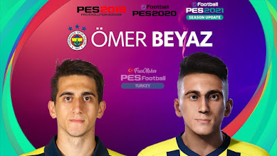 PES 2021 Faces Ömer Faruk Beyaz by PES Football Turkey