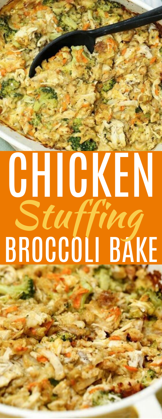 Chicken Stuffing Bake #dinner #chicken
