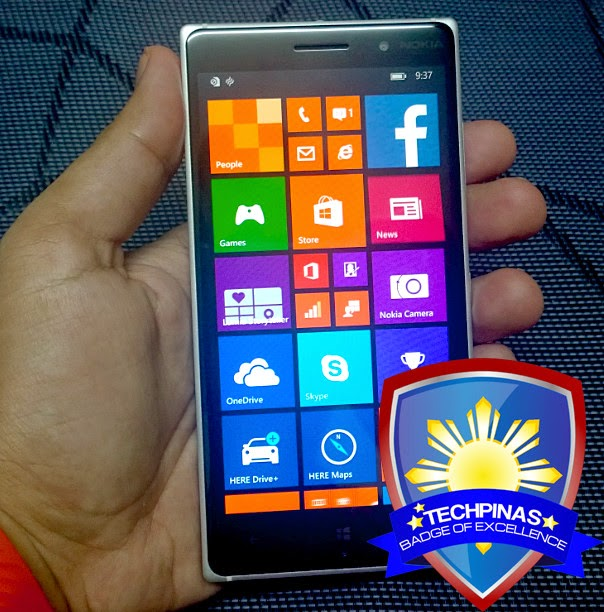 Nokia Lumia 830, Nokia Lumia 830 Philippines, TechPinas Badge of Excellence