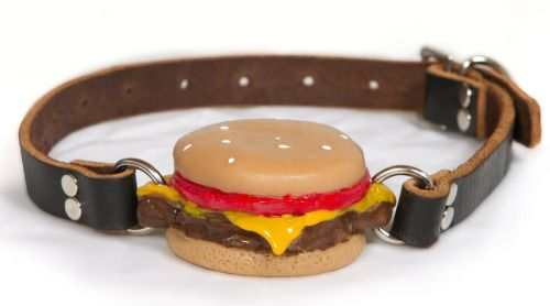 hamburger shaped mouth gag